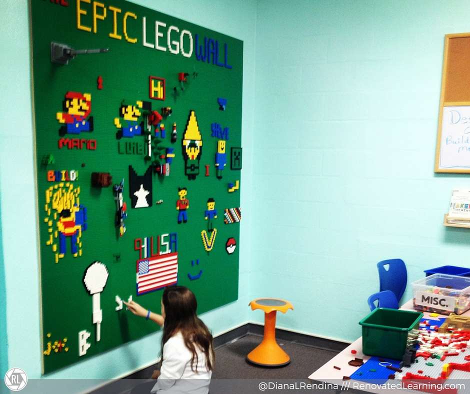 Our Epic LEGO Wall