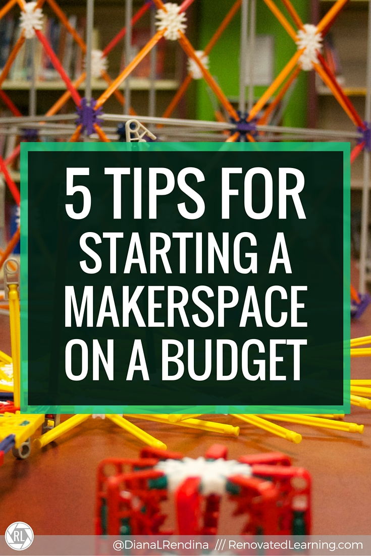 5 Tips for Starting a Makerspace on a Budget | This post links to my article for the ISTE Scanner. In the article, I talk about my five tips for starting a makerspace on a budget, including cultivating a vision,