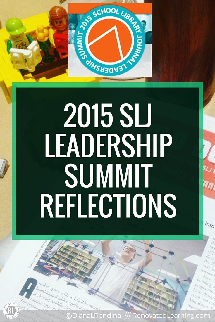 2015 SLJ Leadership Summit Reflections | I was honored to attend the 2015 SLJ Leadership Summit in Seattle, WA. Here, I reflect on the speakers, sessions, Build Something Bold Award and other happenings at the summit,
