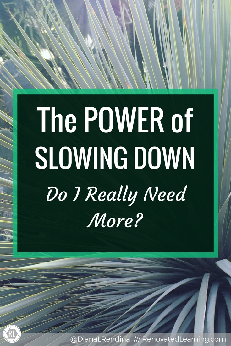 The POWER of Slowing Down: Do I really need more? | It's so tempting in life to keep adding more and more. More responsibilities. More commitments. More speaking engagements and writing commitments and webinars and articles. But it's okay to slow down.