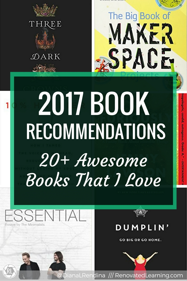 2017 Book Recommendations: 20+ Awesome Books that I Love | Here's my book recommendations for books I read and loved in 2017. Plus, what I'm excited to read in 2018.