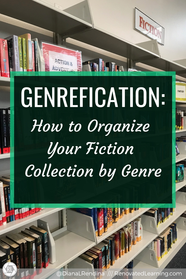 Genrefication: How to Organize Your Fiction Collection by Genre - In this post, I share what I learned from genrefying the fiction section of my library and offer tips and advice for your own genrefication project.