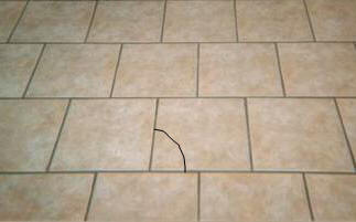 Replacing A Cracked Ceramic  Porcelain  Marble  Granite  Or Other     cracked ceramic flooring tile
