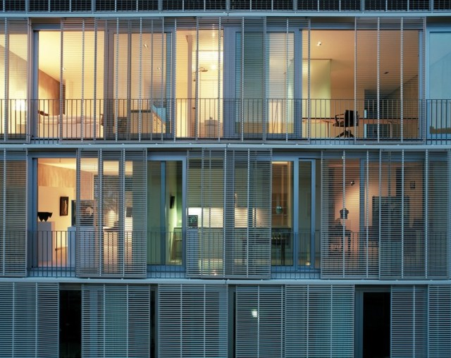 At Urban Living 01, Abcarius and Burns Architecture Design created an operable facade to get around a ban of balconies. Andrea Kroth, Author provided