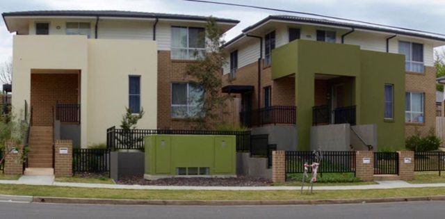 These units in suburban Parramatta were built as part of the 2009-12 national Social Housing Initiative. Gethin Davison, Author provided