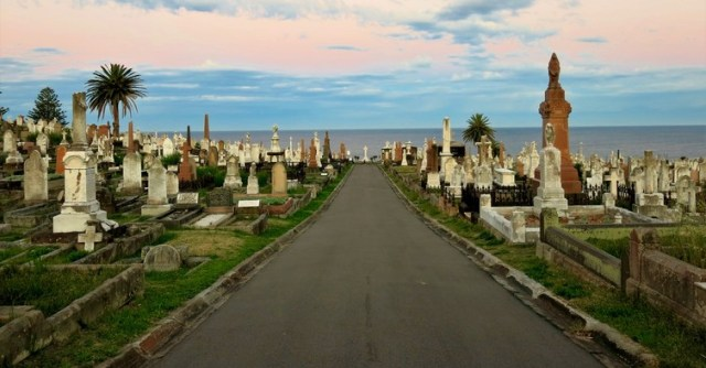 Waverley Cemetery occupies a coastal site in Sydney's eastern suburbs, the sort of location that simply isn't available for a new cemetery today. Kate Ryan, Author provided