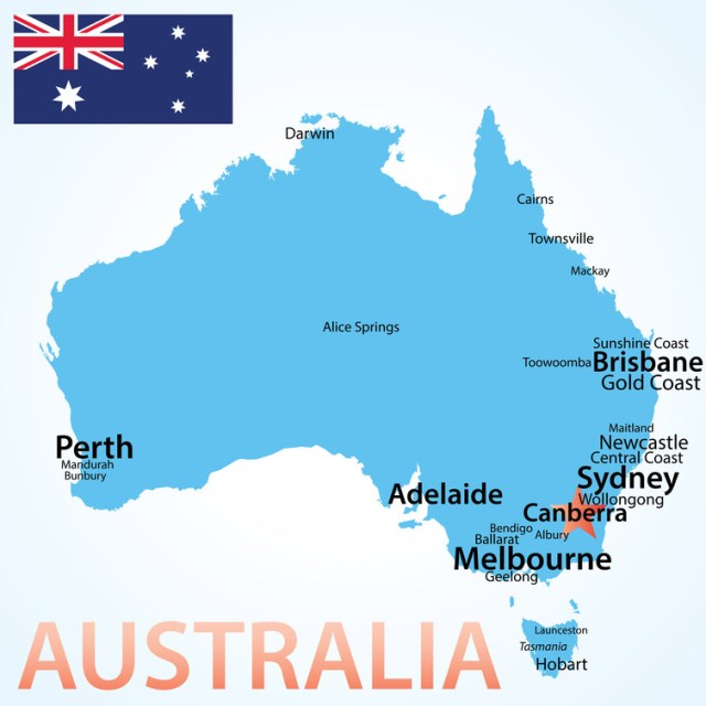 The concentration of Australians in the big urban centres – font sizes of place names are scaled here in line with populations – presents problems for creating representative regional governments. shutterstock