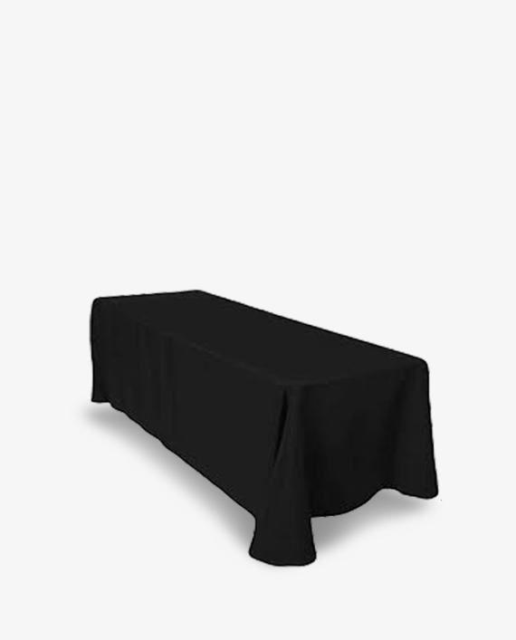 90 x 132 6ft black tablecloth rental rentalry.com