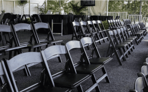 black resin chair party rentals atlanta