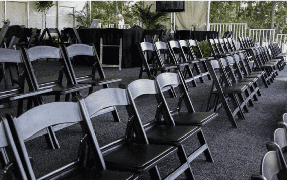 black resin chair party rentals atlanta
