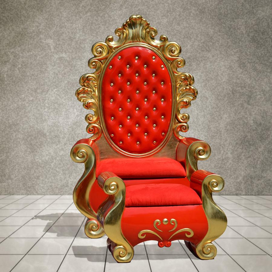 Santa Throne and Footstool