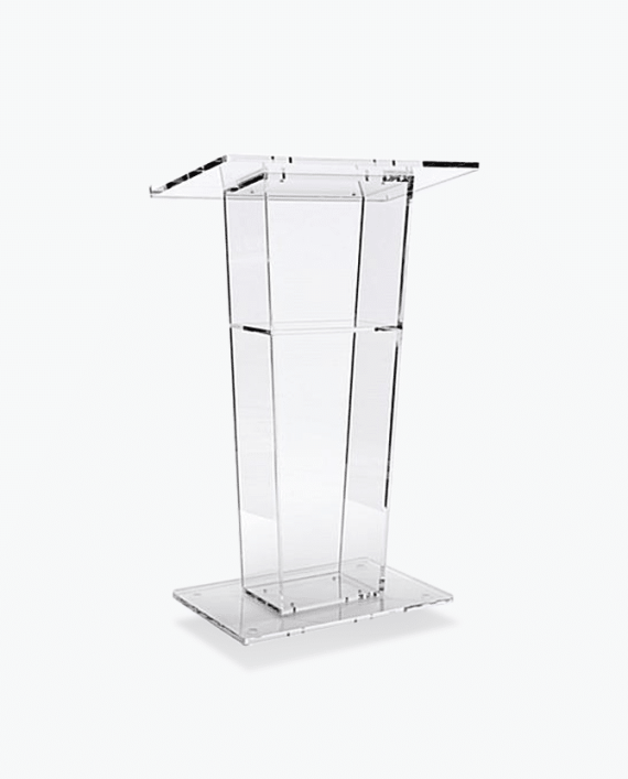 Deluxe Clear Podium Rentals from RENTALRY