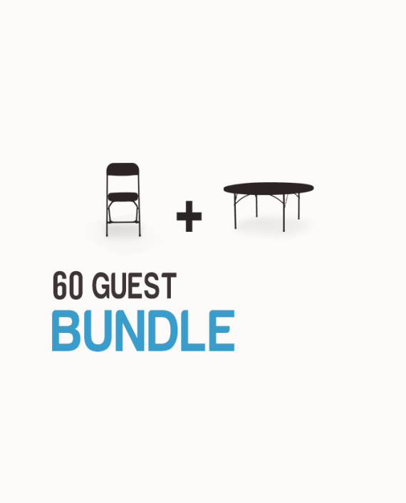 60-guest-table-and-chair-bundle-one-click-event-rentals - Black Chair Package