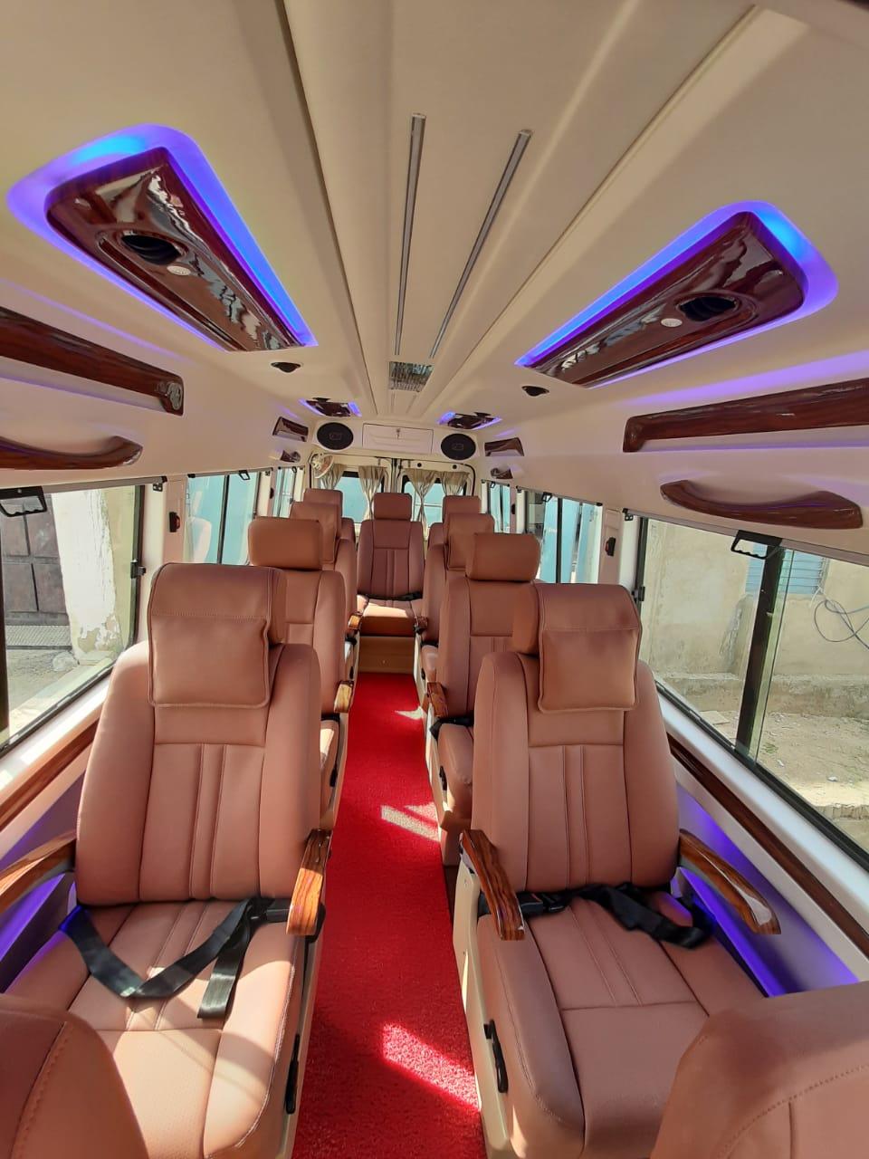 luxury 1x1 seats tempo traveller