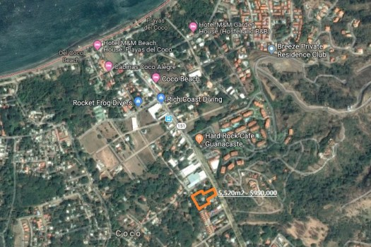 large commercial property for sale Playas del Coco