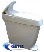 White Feminine Sanitary Hygiene Bin