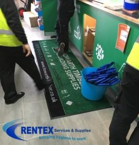 trade counter mats