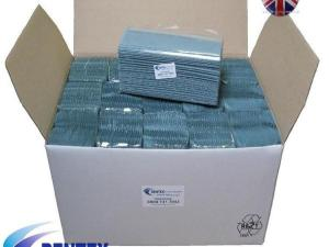 C Fold Paper Hand Towels 1ply Blue