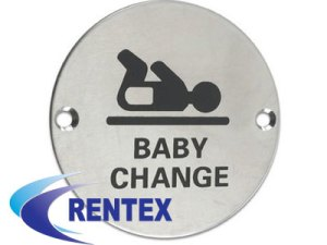 Baby Change Door Sign