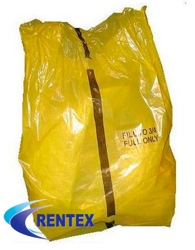 Yellow Offensive Waste Sack