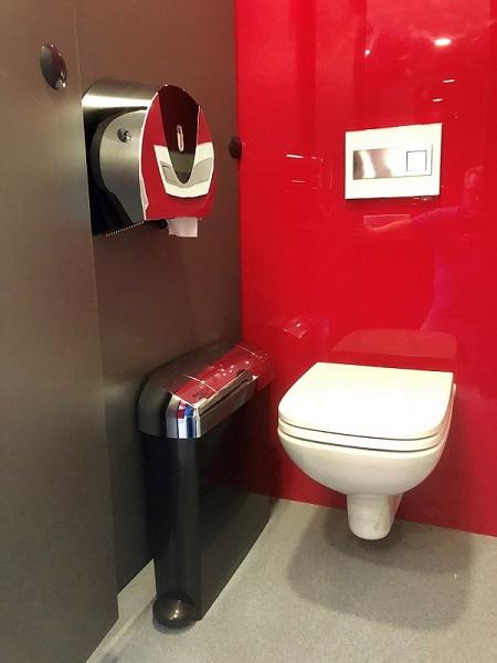 sanitary bin chrome