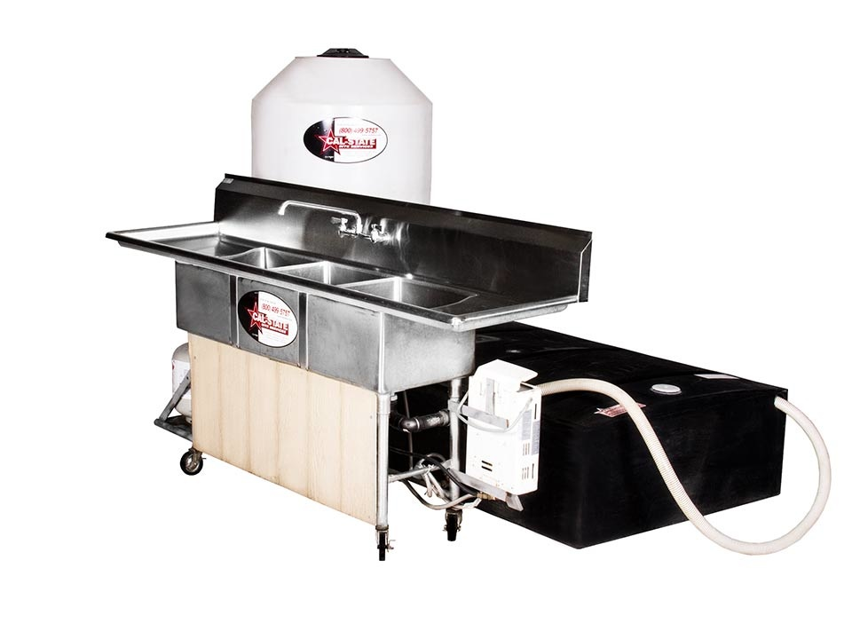 3 compartment hot sink station rental