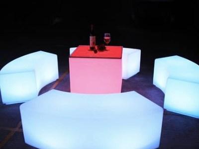 LED Lounge furniture for rent