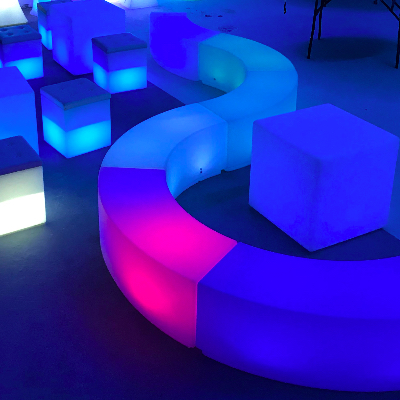 led benches rental