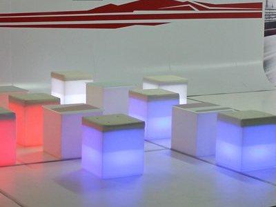LED Ottomans for rent