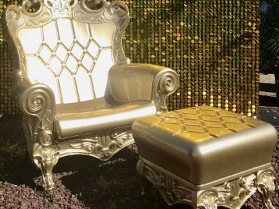 gold throne chair rental bronx