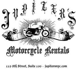 Jupiter's Motorcycle Rentals Logo