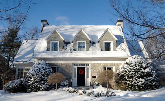 Winter Home Exterior