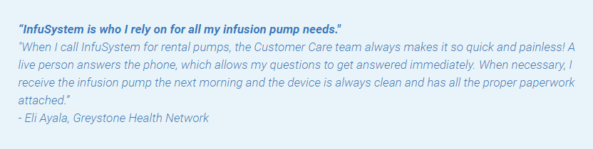 InfuSystem Rents & Sells Infusion Pumps