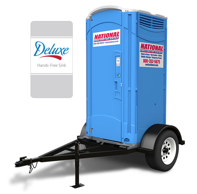 towable porta potty with sink trailer