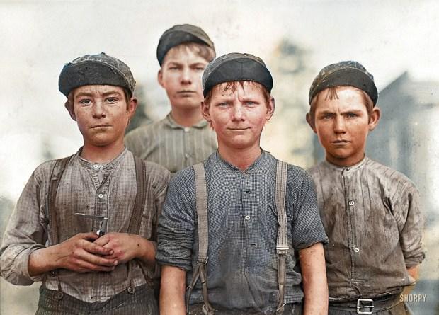 Mladi čistilci, Georgia, 1909 (foto: Shorpy)