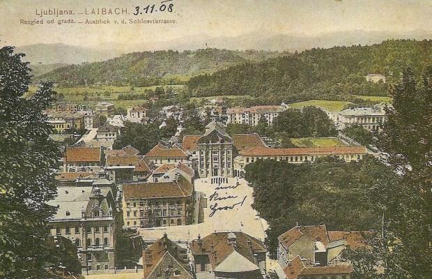1908 - Kongresni trg, Uršulinski samostan in okolica