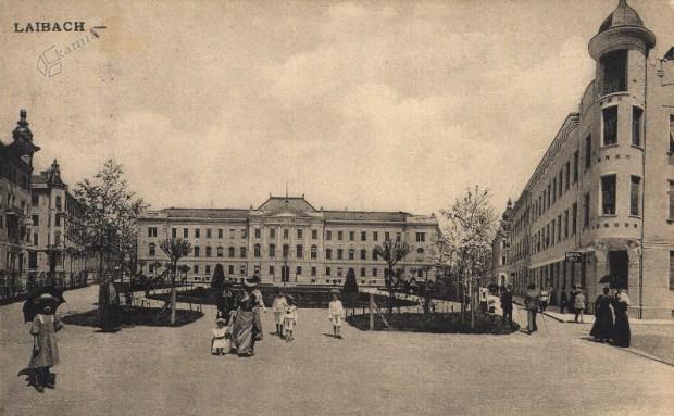 1908 - Miklošičev park in sodna palača