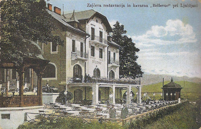 1910s - restavracija in kavarna Bellevue
