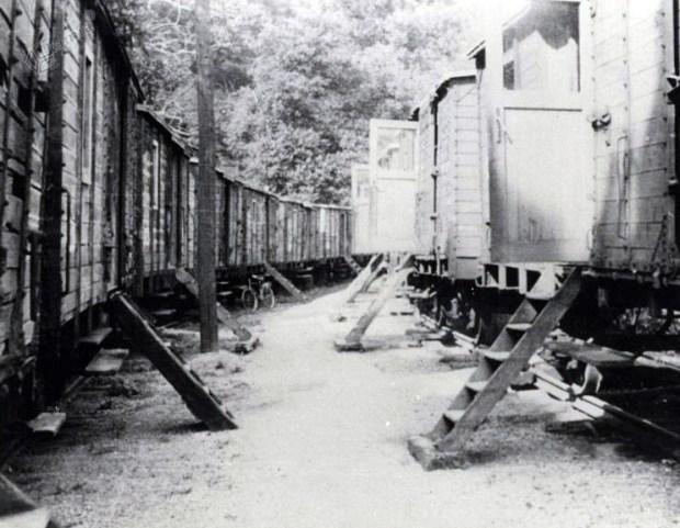1919 - vagonarsko naselje v Zalogu, kjer so do leta 1921 živeli begunci iz okupirane Primorske