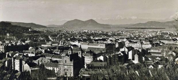 1920s - pogled na Ljubljano z Ljubljanskega gradu