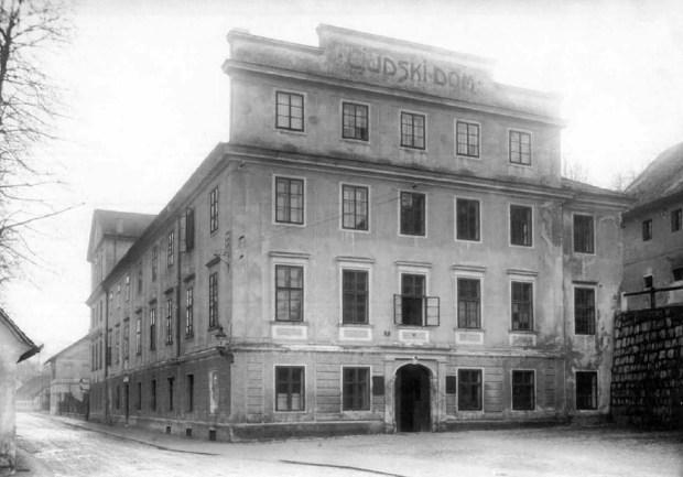 1927 - Ljudski dom na Streliški ulici (danes Waldorfska šola)