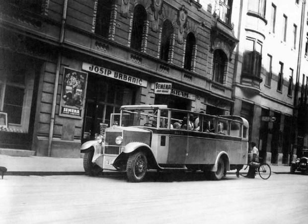 1930 - avtobus na Miklošičevi ulici