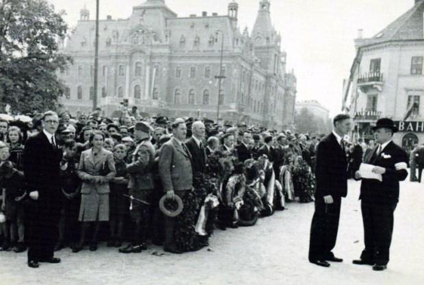 1940 - proslava na Kongresnem trgu ob odkritju spomenika kralja Aleksandra