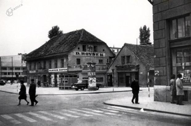 1960 - križišče Kolodvorske in Pražakove ulice