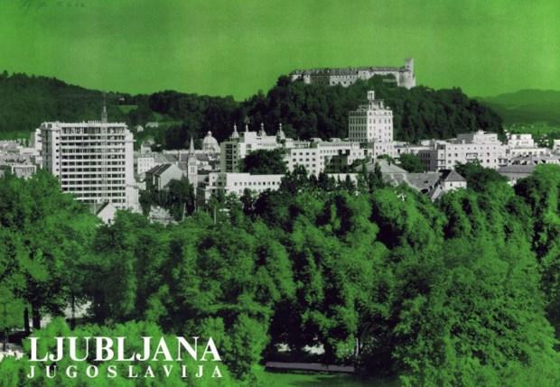 1963 - promocijski plakat za Ljubljano