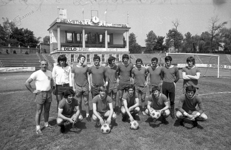 1965 - ekipa mladincev na Plečnikovem stadionu