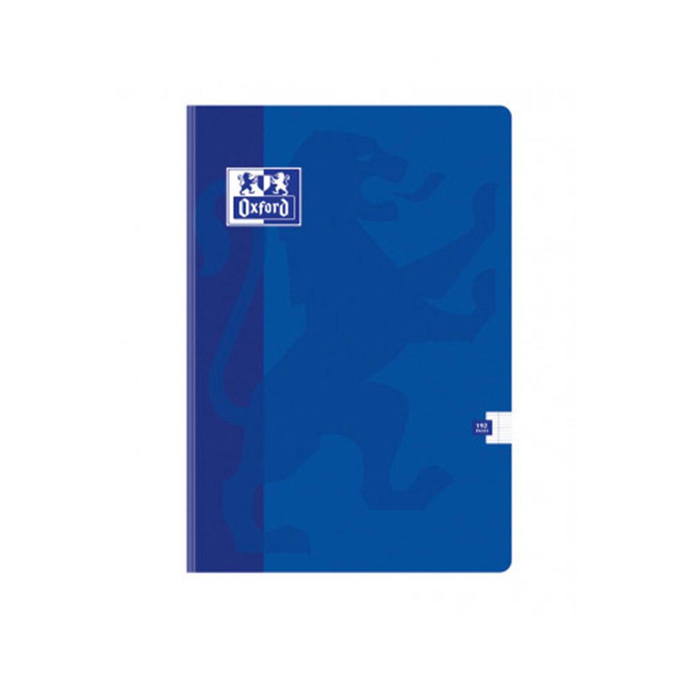 cahier polypro 17x22 bleu oxford openflex grands carreaux seyes 192 pages 90g