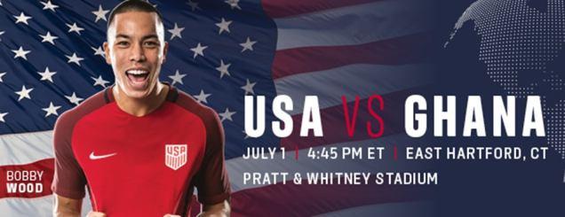 Image result for US SOCCER VS. GHANA pratt & whitney stadium