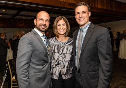 From left, Danny Martins of Danbury, Marnie D'Uva of Southbury, and Jeff Corbishley of Danbury, enjoy themselves, during the Seeds of Hope for Haiti Dinner & Gala at the Heritage Hotel and Resort in Southbury on Friday. Bill Shettle Republican-American