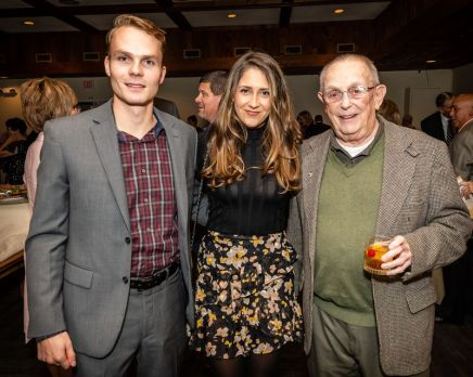 From left, Jeff Lochner of Canton, Justine Valentino of Southbury, and Jack Parsons of Southbury enjoy themselves, during the Seeds of Hope for Haiti Dinner & Gala at the Heritage Hotel and Resort in Southbury on Friday. Bill Shettle Republican-American